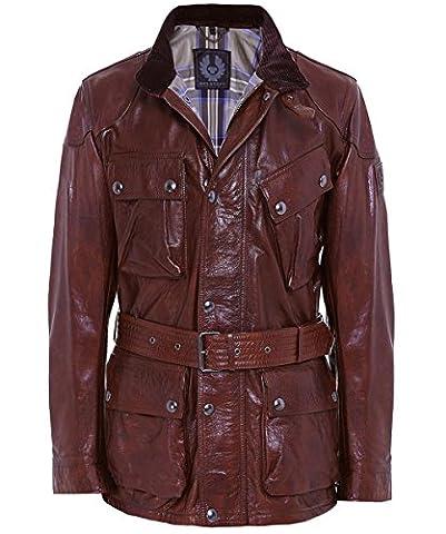 Belstaff Men's Leather Panther Jacket 56 Cognac