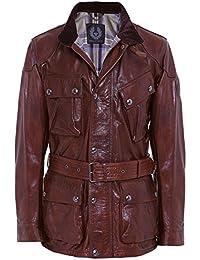 Belstaff Hombres chaqueta de cuero de Pantera Coñac