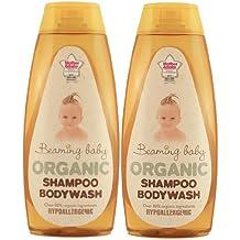 Beaming Baby Organic Shampoo and Bodywash - 2 x 250ml bottles
