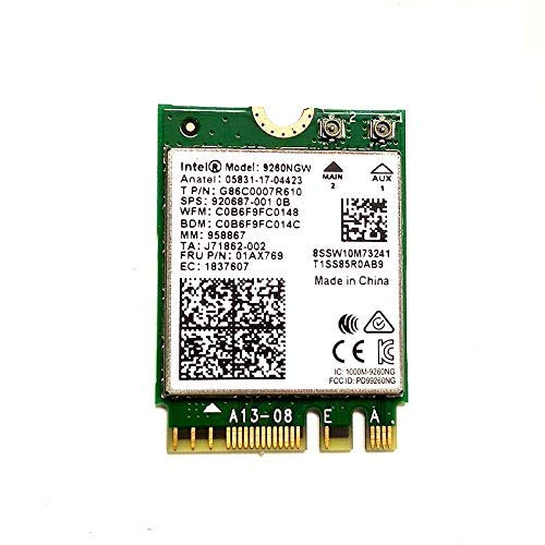 A-Tech ~ Dual Band Wireless-AC 9260 Intel 9260NGW
