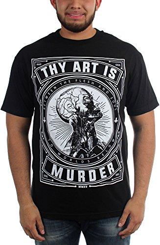 Thy Art Is Murder-Flesh And Soul-Maglietta da uomo Nero  nero