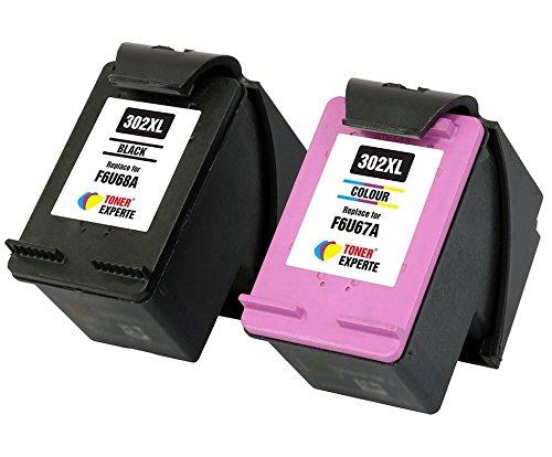 TONER EXPERTE® 2er Set Druckerpatronen kompatibel für HP 302XL DeskJet 3630 2130 2132 1110 ENVY 4527 4524 4520 OfficeJet 3830 3831 4650 4655 4656 4658 5230 | hohe Kapazität