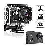 TEEPAO 4K Action Camera, 2019HD 1080p 5,1cm DV Dive Fotocamera 100Piedi Impermeabile 170° Wide-anglee videocamera Sportiva Possono Utilizzare 2.4G WiFi Telecomando con 18Accessori Kit