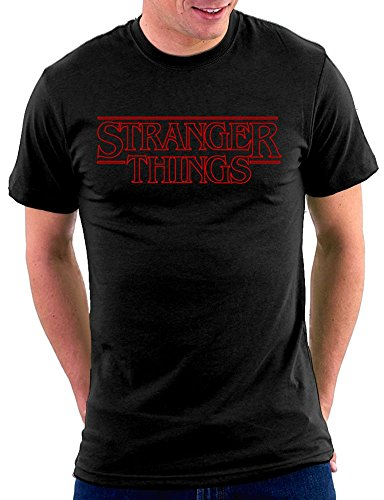 Stranger Things Logo T-shirt Schwarz
