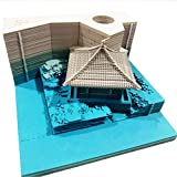 1PC 160fogli adesivi 3D bastone Omoshiroi blocco notes comodo DIY documenti carta artigianale del Giappone creative post note Blue House