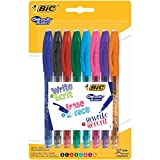 BIC 943460 Gelo-city Illusion Lot de 8 Rollers pointe moyenne Couleurs Assorties