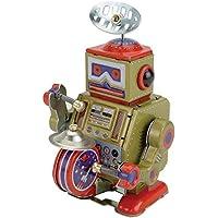 Robot de Hojalata Marron con tambor pequeño