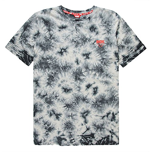DGK Men's Smokey Custom Knit T Shirt Tie Dye Black XL (Tie-dye-t-shirt Pattern)