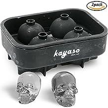 Kayaso silicone Ice Cube Molds 3D Skull Mold Black