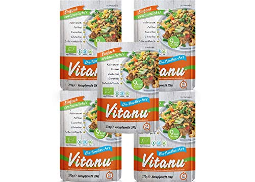 Vitanu - Organic Shirataki Nudeln Noodles - 5 x 200g