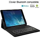 KARYLAX Étui de Protection avec Clavier Intégré Azerty Français Connexion Bluetooth Universel L pour Tablette Huawei Mediapad M5 10.8 Pouces [Dimension 26,5 x 18,5 cm]