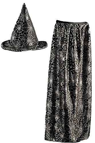 Spider Web Cape - Kids Witch/ Wizard Hat and Cape