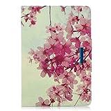 Samsung Galaxy Tab S4 10.5 Hülle Case, Leder Tasche Flip Cover Schutzhülle Schale Etui mit Standfunktion für Samsung Galaxy Tab S4 10,5 Zoll Tablet SM-T830/T835 - Sakura Blume (Auto Schlaf / Wach)