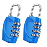 SODIAL(R) 2 X 4 Dial TSA Cerradura Candado de Combinacion Reajustable para Equipaje Maleta - Azul