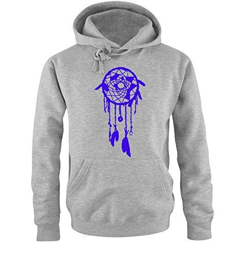 Comedy Shirts -  Felpa con cappuccio  - Maniche lunghe  - Uomo grey / royal blue