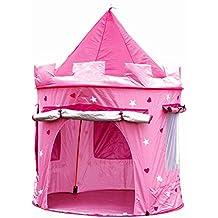 Tienda casa casita carpa campaña para niñas de tela lona CASTILLO PRINCESA, POP UP plegable