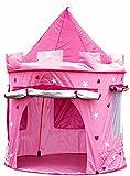 Tenda casette casa da gioco bambini bimbi, CASTELLO DELLE PRINCIPESSE, piegatura pop up, rosa per le ragazze, interni ed esterni