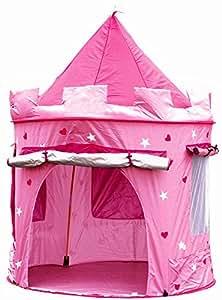 Cabane enfant maison pour fille | CHATEAU DE PRINCESSE | jardin ou intérieur | Tente de Jeu, jouet Pop Up, rose