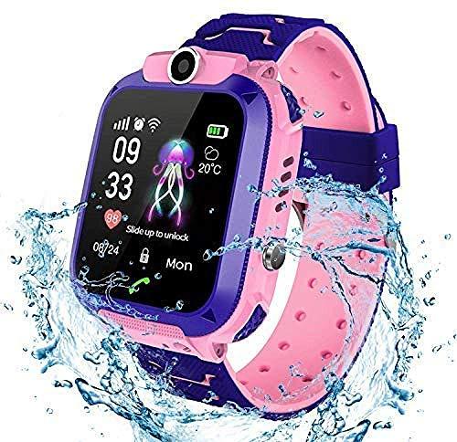 SSXZ Kids Smartwatch Waterproof con SOS Camera Alarm Clock 1.44 Juegos de Pantalla...