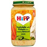 HiPP Tagliatelles bio aux Pollock dans une sauce crémeuse 220g de brocoli