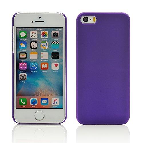iProtect Premium Schutzhülle Apple iPhone 5, 5s, SE Hard Case gummiert - rosa Hardcase gummiert lila