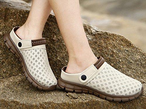 De Verão Tamancos Os Mulas Todos Para Unissex De Sapatos Muffins Dias Baixo Chinelos Chinelos Cáqui Praia Arrasto xqxBwf