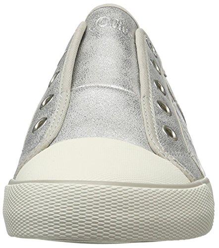 S.oliver 24626, Chaussures De Sport Multicolores Pour Femmes (argent / Noir 932)