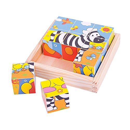 Bigjigs Toys Puzzle cube safari
