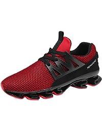 sports shoes 5a773 308da Uomo Donna Scarpe Ginnastica Sportive Basket da Corsa Basse Invernali Sport  Sneakers Verde Nero Blu 36