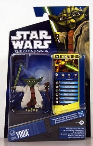 Star Wars - 98355 - The Clone Wars - Galactic Battle Game - Action Figur - CW05 - YODA (ca. 7 cm / 3
