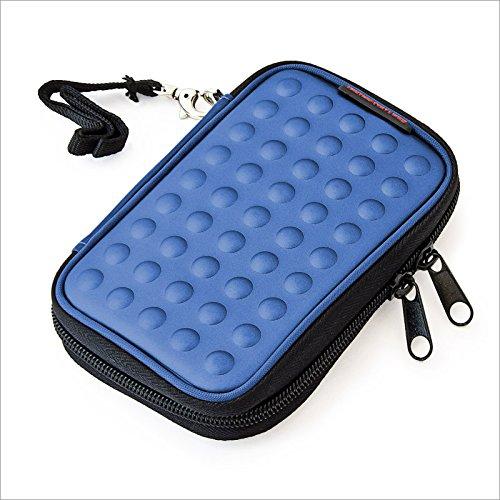 Relaxdays - Funda carcasa para navegadores, con clip para el cinturon, con correa, Azul
