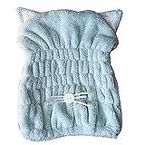 Joyfeel Buy Cute Cat Ears Dry Hair Cap Wet Hair Dry Cap Drying Towel Ultra Absorbent Coral Fleece Drying Cap For Women(Green)