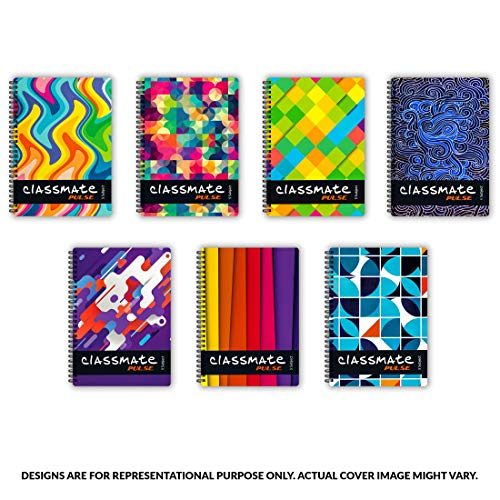 Classmate Pulse 6 Subject Notebook - Unruled, 300 Pages, Spiral Binding, 240mm*180mm Image 3