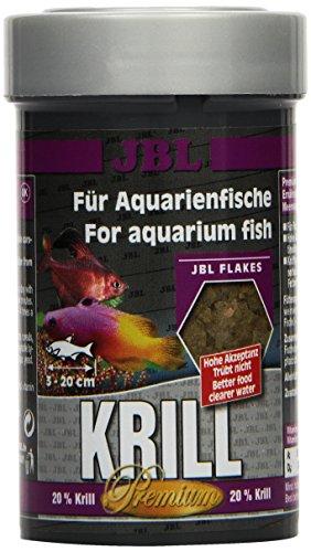 JBL Krill 40581 Premium Alleinfutter für alle Aquarienfische, Flocken 100 ml