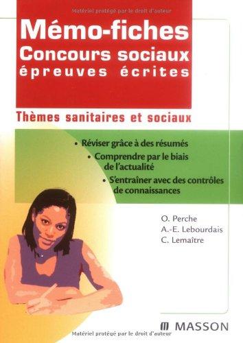 Mémo-fiches concours sociaux épreuve écrite - Thèmes sanitaires et sociaux