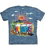 The Mountain Unisex Erwachsen Gr. XL Batik Tour Bus T Shirt