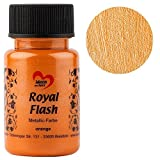 Royal Flash, Acryl-Farbe, metallic, mit feinsten Glitzerpartikeln, 50 ml (orange)