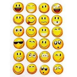 Oblique Unique Smiley Smilies Sticker Aufkleber -24Stück- Lächeln Smily Deko Basteln