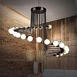 ZHENYUE Lustres Lustre Pendant Light Vintage Spiral Staircase fer plafond Lumières 26 Lampe for Salon Chambre restaurant Retro Décore Luminaires Lustre ZHENYUE