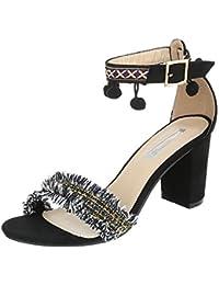 Ital-Design - Scarpe con plateau Donna , Multicolore (Giallo/Multicolore), 40