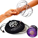 TOROIDZ ® Flow Rings w/ Official Velvet Bag - Amazing Magic Science Toy - 3D ARM SPRING - Interactive Museum, Circus, Anti Stress, Festival - All Ages Christmas Gift