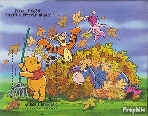 Prophila Collection Antigua und Barbuda Block392 (kompl.Ausg.) 1998 Walt-Disn.: Winnie-The-Pooh (Briefmarken für Sammler) Comics (Winnie The Pooh Sammler)