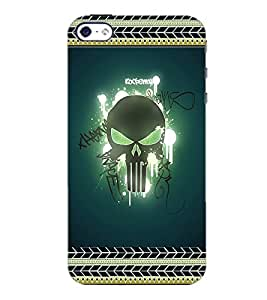 PrintDhaba Skull D-2521 Back Case Cover for APPLE IPHONE 5S (Multi-Coloured)