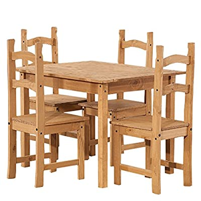 Corona Solid Pine Small Dining Table - Chairs Not Included
