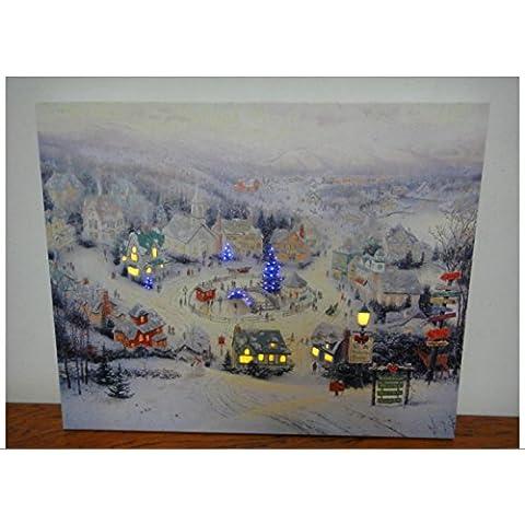 XYXY Pittura di paesaggio con LED luce natale luce soggiorno decorazione . 40*50