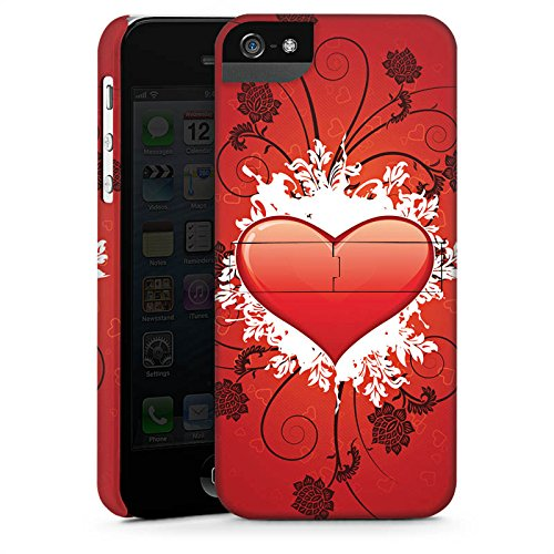 Apple iPhone X Silikon Hülle Case Schutzhülle Herz Muster Love Amore Premium Case StandUp