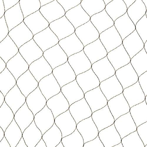 Filet anti-oiseaux Primo en maille tricotée polyéthylène 12gr/m² noir 10x4m