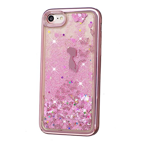 Cover iPhone 5 5S, Custodia iPhone SE, Vandot Silicone Trasparente Morbida Clear Gel Caso, Ultra Slim Antiurto Anti-Graffio Bumper Case con Disegni + Universale Supporto Stand-Animale Delfino Sabbie 6