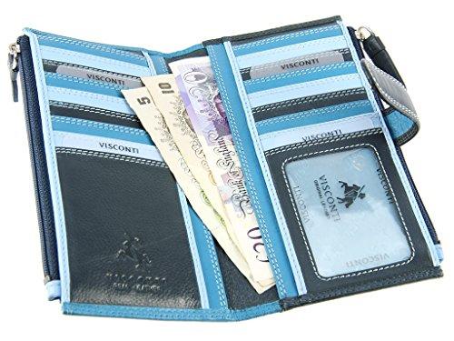 Visconti Bifold Multi Fach Leder Tasche für Damen–