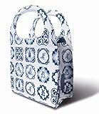 Basil Mirte Shopper Bag Einkaufstasche zur Befestigung am Fahrrad; Farbe: Weiß/Blau